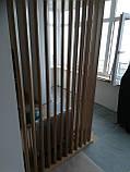 Дерев'яні рейкові панелі. рейкові перегородки. Декоративні рейки Дерев'яні панелі, фото 7