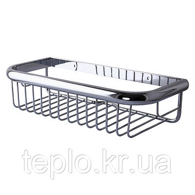 Поличка в душову TOPAZ 4101-пряма Одинарна латунь (300*130*75мм)