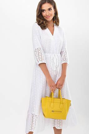 Шикарное белое платье из прошвы и батиста длинное платье  S M L XL, фото 2