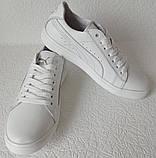 Puma classic! Мужские кроссовки кеды  натуральная белая кожа в стиле Пума классик!, фото 4