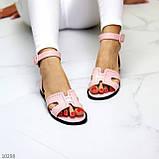 Босоножки женские розовые / пудра эко кожа, фото 3