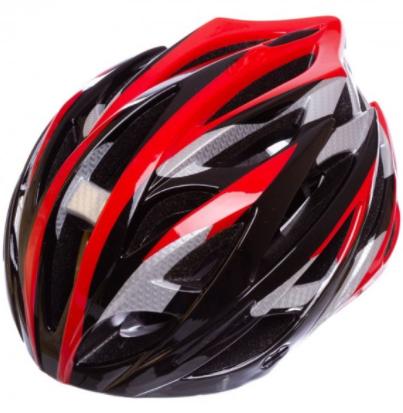 Велошлем кросс-кантри с механизмом регулировки Zelart (HY032) Красный-черный М (55-58 см)
