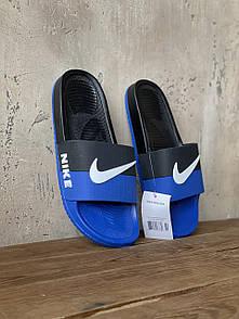 Мужские тапочки Nike Blue Black