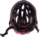Велошлем кросс-кантри с механизмом регулировки Zelart (HY032) Красный-черный М (55-58 см), фото 4