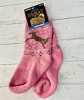Шкарпетки  Nebat жіночі 36-39 размер рожевий олені