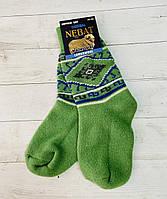 Шкарпетки Nebat жіночі 36-39 розмір зелений орнамент