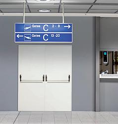 Протипожежні двері SPLIT EI60 метал R/L 1200(800+400)*2050 DIERRE