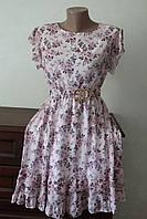 Платье женское шифоновое с пояском