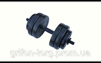 Гантель композитная RN-Sport 13 кг - 1 шт + Эспандер