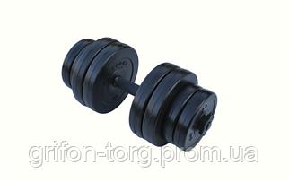 Гантель композитная RN-Sport 16 кг - 1 шт + Эспандер