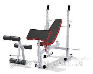 Многофункциональная скамья RN sport universal + приставка Скотта и тренажер для ног
