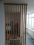 Деревянные перегородки. Деревянные реечные панели. реечные перегородки. Декоративные рейки Деревянные панели, фото 5