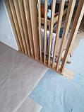 Дерев'яні перегородки. Дерев'яні рейкові панелі. рейкові перегородки. Декоративні рейки Дерев'яні панелі, фото 8