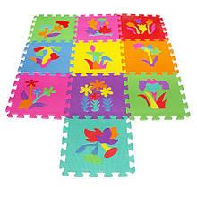 Детский игровой коврик мозаика Растения M 0386  материал EVA