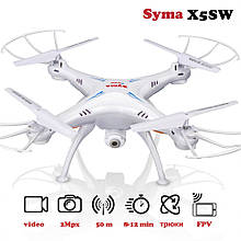 Квадрокоптер на радиоуправлении Syma X5SW с камерой WiFi (Белый)