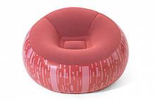 Надувное кресло BW 75052 велюровое (Светло-красный)
