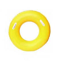 Детский надувной круг BestWay 36084 флуоресцентный (Желтый)