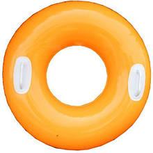 Детский надувной круг с ручками 59258 глянцевый (Оранжевый)