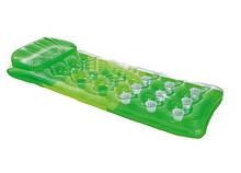 Надувной матрас для плавания Цветной стаканы Intex 58890 с подушкой (Зелёный)