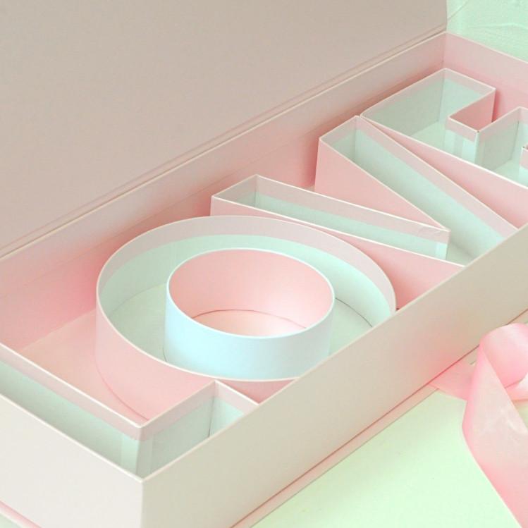 Коробка футляр з буквами Love 62*22*10 см