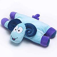 Детская подушка-игрушка для путешествий Travel Blue Sammy the Ram Travel Pillow Барашек Голубой 2, КОД:
