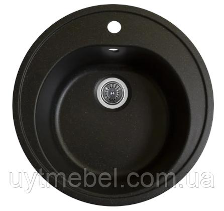 Мийка Luna 510 граніт матова чірна (Platinum)