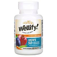 Мультивитамины и мультиминералы для мужчин старше 50 лет, Wellify, 21st Century, 65 таблеток