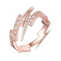 Женское кольцо с кристаллом,медсплав,  регулируемое кольцо золотого цветаСС1722-65
