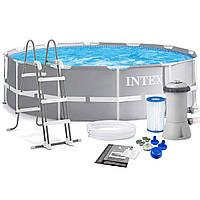 Каркасный Бассейн Intex с Фильтром-Насосом, фото 1