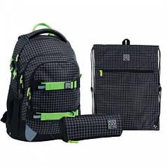 Набір рюкзак + пенал + сумка для взуття WK 727 Checkered set_wk21-727m-2