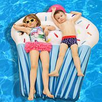 Надувной матрас Кекс 150х120х20 / Матрас для плавания