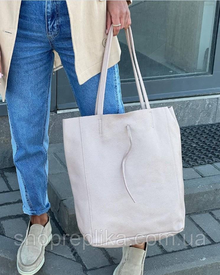 Сумка женская кожаная шоппер женская кожаная сумка италия женские сумки кожаные Итальянские пудра