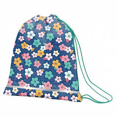 Сумка для обуви SMART SB-01 Flowers melody, синий/коралловый 556219