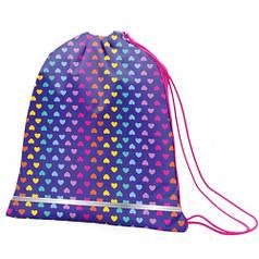 Сумка для обуви SMART SB-01 Rainbow hearts, фиолетовый 556990