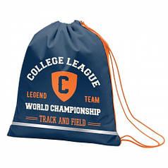 Сумка для обуви SMART SB-01 College league, синий 557157
