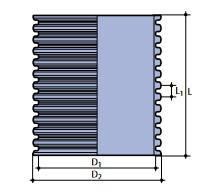 Гофрированная труба PP SN4 TEGRA1000 (1,2м), фото 2