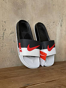 Мужские тапочки Nike White Black