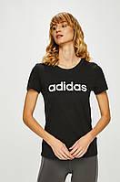 Футболка женская Adidas, черная адидас