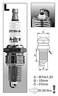 Свеча зажигания BRISK 2108-09 ВАЗ 8v 143 LR15YCY A-Line 2 Brisk