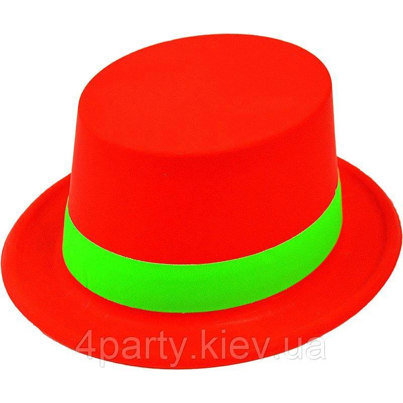 Циліндр Флок з стрічкою (червоний) 080218-012