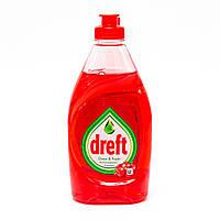 Гель для мытья посуды Dreft Clean and Fresh (Гранат), 383 мл., фото 1