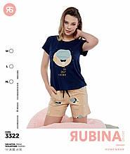 Стильна піжама з шортами. Rubina 3322