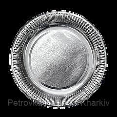 Тарелка картонная Серебро ХТ23 100шт
