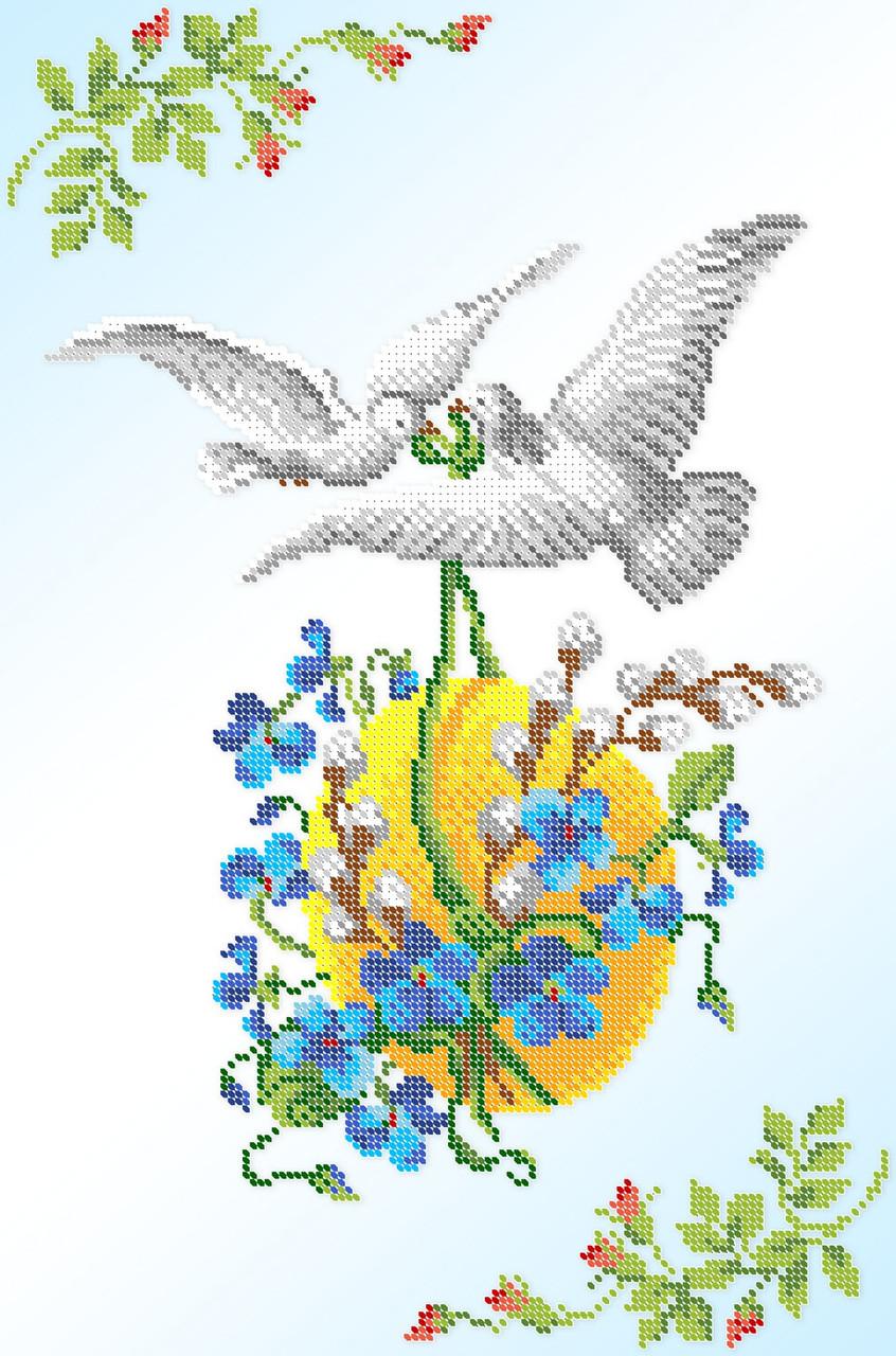 Вышивка бисером Серветка пасхальна СВР 3122 формат А3
