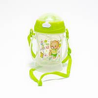 Пляшка-непроливайка для дитини з силіконовою соломинкою 360 мл, фото 1