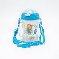 Бутылка-непроливайка для ребенка с силиконовой соломинкой 360 мл.