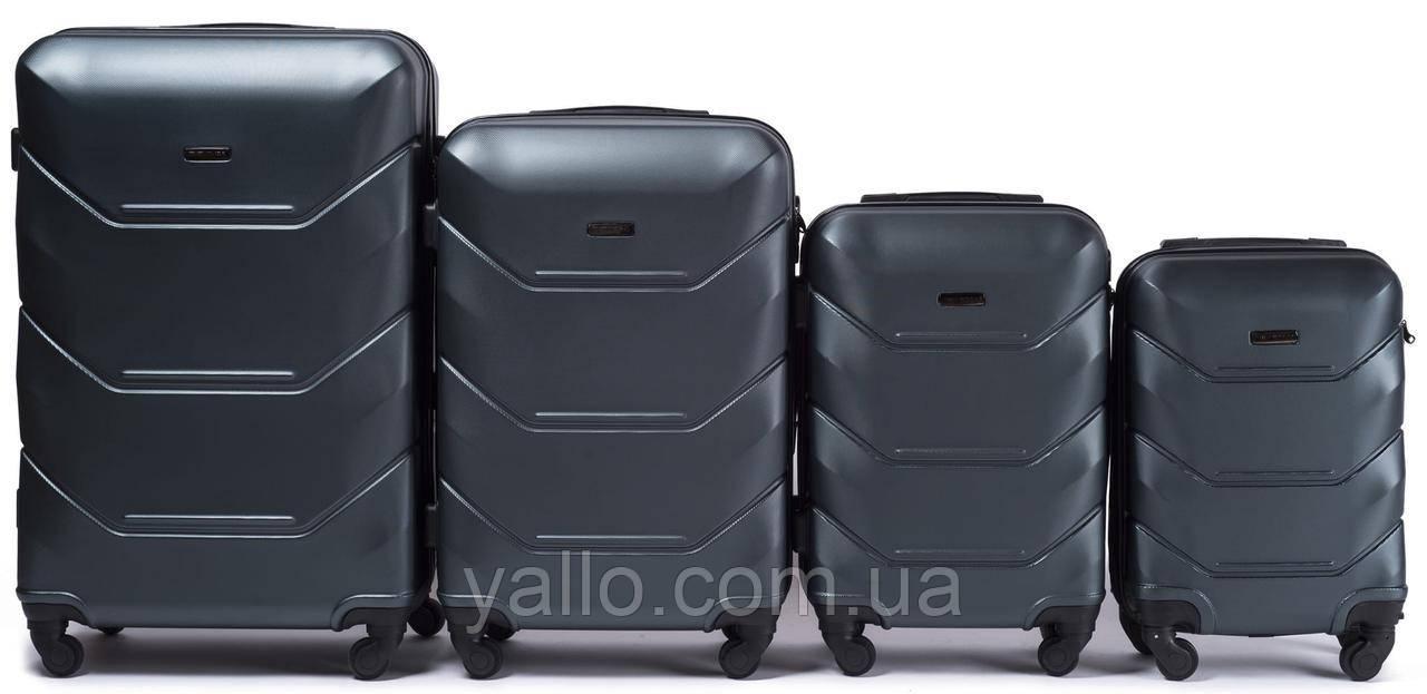 Комплект чемоданов из поликарбоната  SET WINGS 147 DOUBLE GREEN.