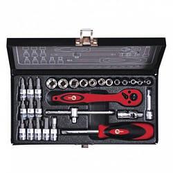 """Набор инструмента 1/4"""" 28 ед (гол. 4-13 мм, биты 11 ед.) INTERTOOL ET-6028"""