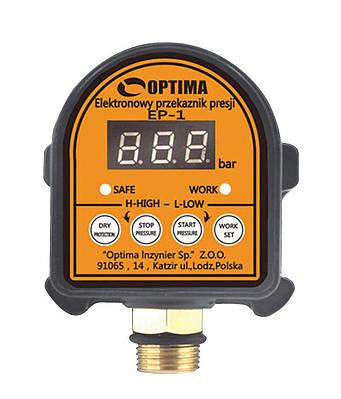 Електронне реле тиску Optima  EP-1 з захистом сухого ходу