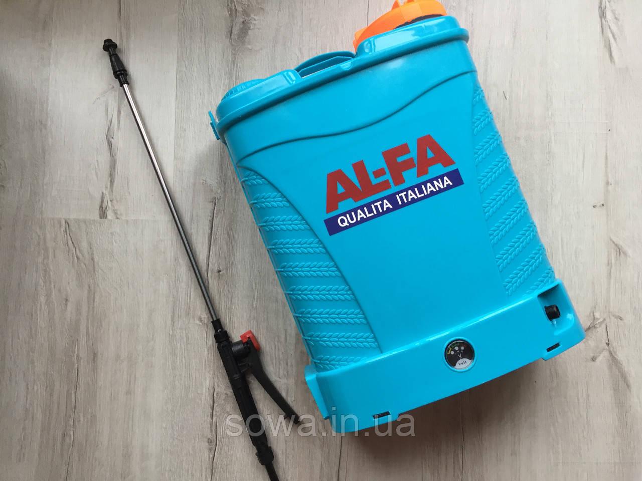 Акумуляторний обприскувач AL-FA Li-ion батарея : 16L, 12A.h